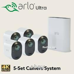 NEW Arlo VMS5540 Ultra Wireless 4K UHD Wire-Free 5-Security Camera System Bundle