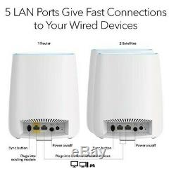 NEW NETGEAR Orbi Tri-band Whole Home Mesh WiFi System with 2.2Gbps speed (RBK23)