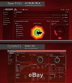 NEW Netgear Nighthawk Pro Gaming AC1750 Dual-Band Wi-Fi Router Gaming Dashboard
