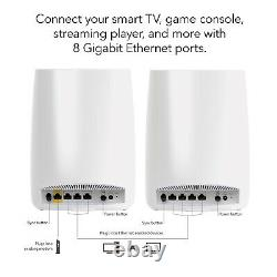 NEW Netgear Orbi AC3000 Tri-Band Whole Home Mesh WiFi Router System RBK50-100NAS