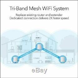 NEW! Netgear Orbi Tri-Band 2.2Gbps 6K SqFt Mesh WiFi 1-Router 2-Sat System RBK23