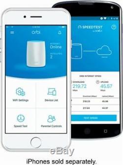 NEW Netgear Orbi Whole Home Mesh WiFi System Pack of 3 AC3000 MU-MIMO Triband