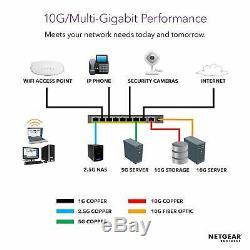 NEW Netgear S3300-52X-PoE+ (GS752TXP) 52-Port Gigabit Ethernet PoE+ Switch 10G