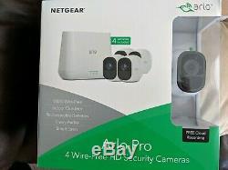 NEW SEALED Arlo Pro VMS4430-100NAS 4-Camera Wireless Security Camera System