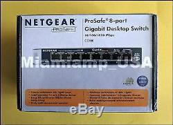 NetGear ProSafe (GS108 v3) 8-Ports External Switch Gigabit Desktop Switch
