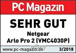 Netgear Arlo Pro 2 VMS4330P kabelloses Sicherheitssystem 3 Full-HD-Kameras NEU