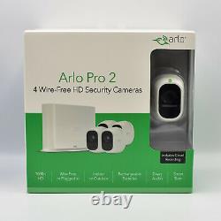 Netgear Arlo Pro 2 VMS4430P 4-HD-Kamerasicherheitssystem VMS4430P-100EUS Neu OVP