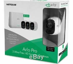 Netgear Arlo Pro, 3 x Wire-Free HD Security Cameras, Night Vision Indoor/Outdoor
