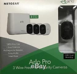 Netgear Arlo Pro Smart VMS4330 Sicherheitssystem mit 3 Kameras