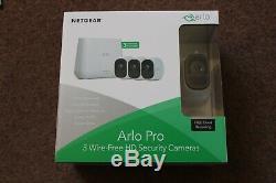 Netgear Arlo Pro Vms4330 3 Camera Wireless Hd Security Cctv System New Sealed