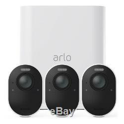 Netgear Arlo Ultra 4K UHD Security System VMS5340 3 Cameras