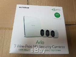 Netgear Arlo VMS3330 Wireless Security Camera System 3 x HD Smart Camera's