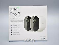 Netgear Arlo Vms4240p-100eus Pro3 2 Qhd-überwachungs Kamera Neu Ovp