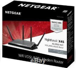 Netgear D7800 Nighthawk AC2600 X4S VDSL/ADSL Dual Band Gigabit Modem Router