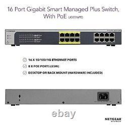 Netgear JGS516PE 16-port PoE Gigabit Smart Managed Plus Switch