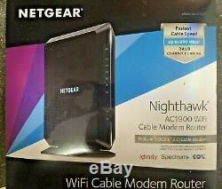 Netgear Nighthawk AC1900 Dual-Band WiFi Cable Modem Router IN HAND FREE SHIP