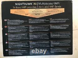 Netgear Nighthawk X6 AC3200. Tri-band WiFi Router. New, unopened