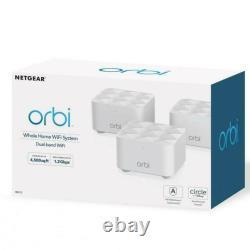 Netgear Orbi AC1200 Dual-Band Whole Home Mesh WiFi System RBK13 (3 Pack) NEW