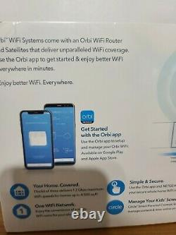 Netgear Orbi AC1200 Dual-Band Whole Home Mesh WiFi System RBK13 NEW-Sealed