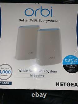 Netgear Orbi AC3000 Tri-Band Wireless Router White, RBK50-100NAS New Sealed