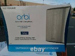 Netgear Orbi Outdoor AC3000 Tri-Band WiFi Range Extender White RBS50Y