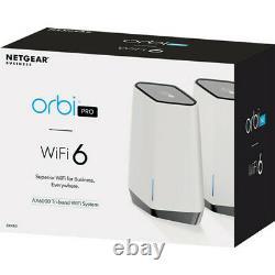 Netgear Orbi Pro AX6000 Wireless Tri-Band Gigabit Mesh Wi-Fi Sys (2-Pack) New