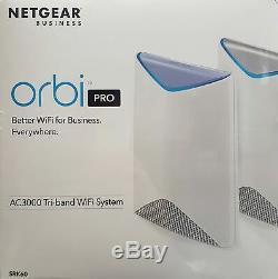 Netgear Orbi Pro SRK60-100EUS Business AC3000 Tri-Band Mesh WLAN System -Neu OVP