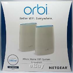 Netgear Orbi RBK50-100PES AC3000 Tri-band Mesh WLAN System bis 350m² Neu & OVP