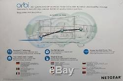 Netgear Orbi RBK53-100PES AC3000 Tri-Band Mesh WLAN System weiß matt Neu & OVP