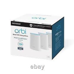Netgear Orbi RBK53S AC3000 Whole Home Mesh WiFi System (3-Pack)
