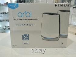Netgear Orbi RBK852 AX6000 Tri-Band Mesh WiFi a6 System 2Pack