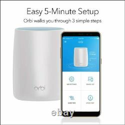 Netgear Orbi Whole Home Mesh WiFi System (RBK50) Router with 1 Satellite