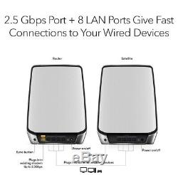 Netgear Orbi Whole Home Tri-Band Mesh WIFI 6 System Router and Satellite RBK852