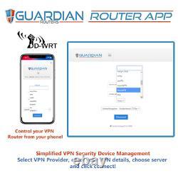 Netgear R9000 X10 DNSCyrpt VPN Router +5 yrs Ivacy VPN +Guardian App Plug'n Play
