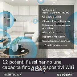 Netgear RAX120 Nighthawk AX12 12-Stream Router WiFi 6 Wireless AX6000 6 Gbps
