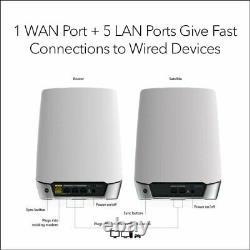 Netgear RBK752-100EUS Orbi Whole Home Tri-Band Mesh WiFi 6 System Router wit