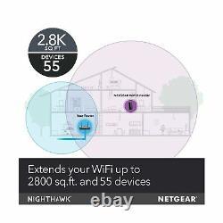 Netgear Wifi Mesh Range Extender EX8000 AC3000 Tri Band Wireless Signal Booster