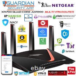 Netgear XR700 7200AD MULTI-VPN Router CyberGhost Windscribe Vypr HMA TorGuard ++