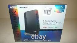 New NETGEAR Nighthawk CAX80 Dual-Band AX6000 Wi-Fi 6 Cable Modem Router