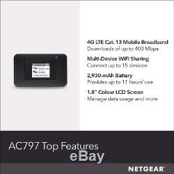 New Netgear Aircard Mobile Hotspot 4g Router Ac797 Mifi Unlocked Portable Wifi