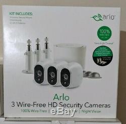 New! Netgear Arlo 3 Wire-Free Hd Security Cameras Indoor/Outdoor/Night Vision