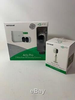 New-Netgear Arlo Pro VMS4230-100NAS Security Camera System 2 Cameras With Mount