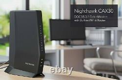 New Netgear Nighthawk AX2700 WiFi6 Cable Modem Router DOCSIS 3.1 2.7Gbps