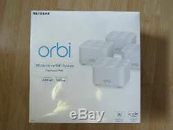 Orbi Whole Home Dual Band Mesh Wifi System 4 Pack 1.2gbps New Sealed Zz2004