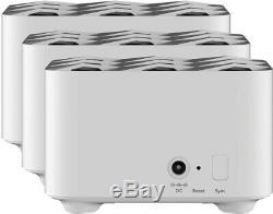 SEALED NETGEAR Orbi AC1200 Dual-Band Mesh WiFi System (4-pack) White